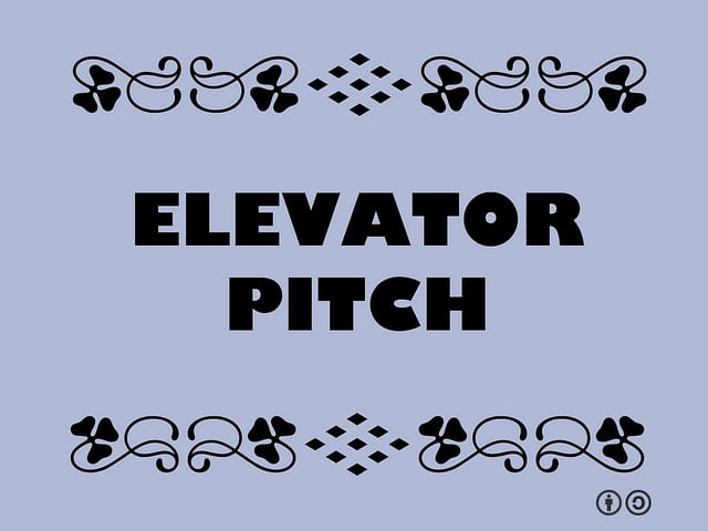 Buzzword Bingo: Elevator Pitch = Concise presentationas pitched to someone in the short time available in an elevator