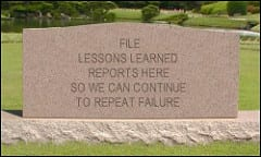 Lessons Learned. Sure